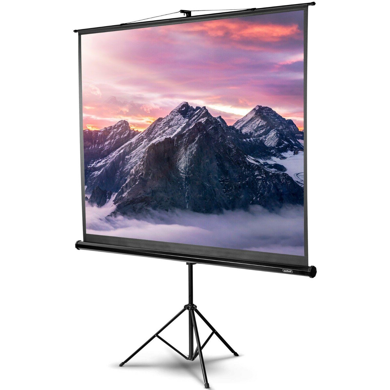 100 inch projector screen with stand 4