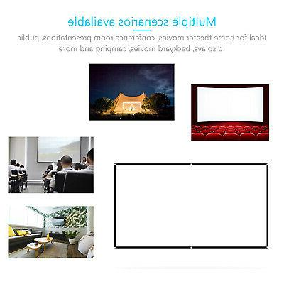 "100"" Portable Wall Projector Screen HD Home Theater"