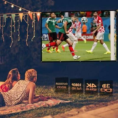 "100"" Portable Foldable Projector Screen 16:9 Home Theater"