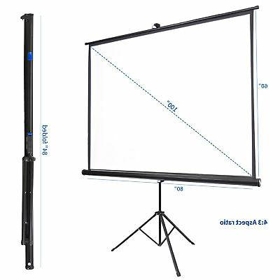 """VIVO 100"""" Projector Screen Pull Up Foldable"""