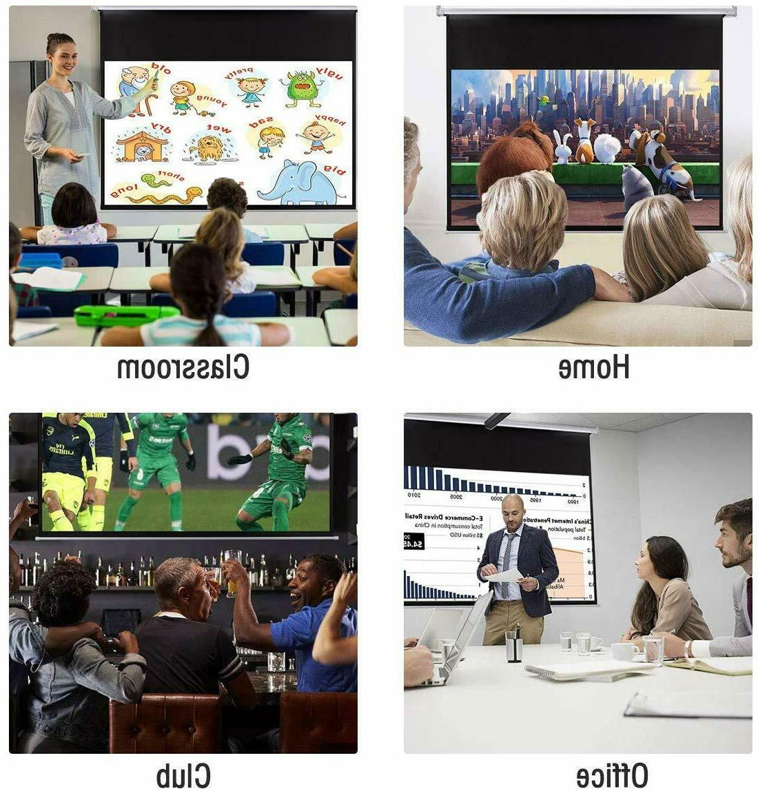 """100"""" Projector Screen 16:9 Wall Ceiling Electric Motorized Home Movie"""