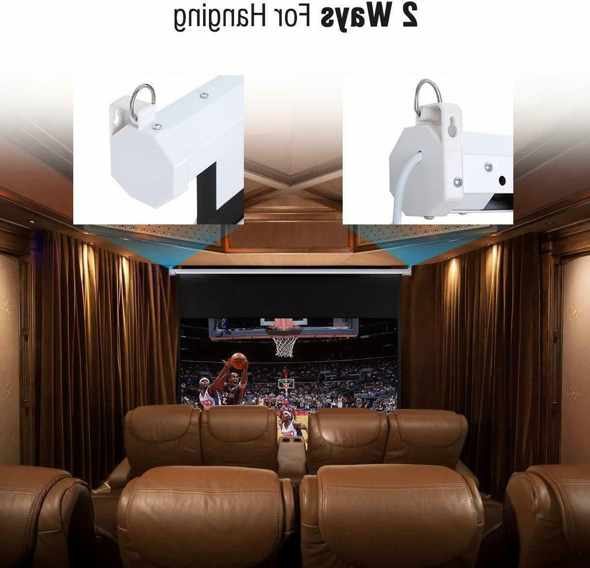 """100"""" Projector 16:9 Wall Ceiling Motorized"""