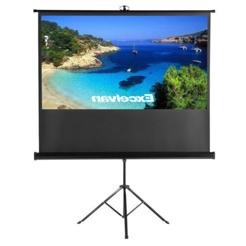 """Portable 100""""16:9 HD 3D Movie Projection Projector Screen Pu"""