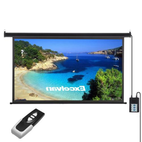 100'' Projector Screen Projection Motorized Pull Down