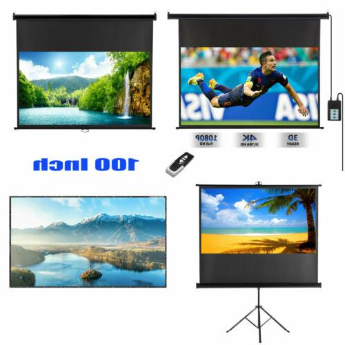 100 projector screen 4k projection electric motorized