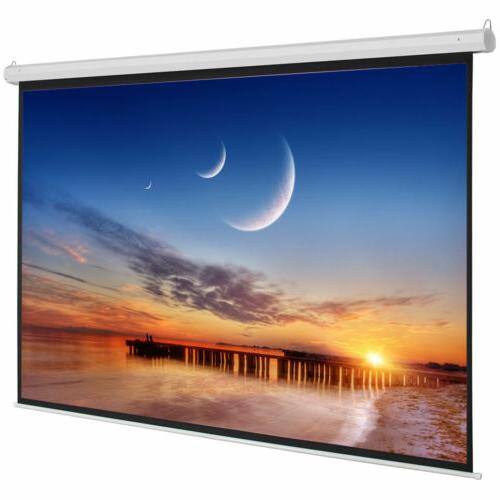 "92"" 16:9 Electric Motorized Indoor Projector Screen + Remote"
