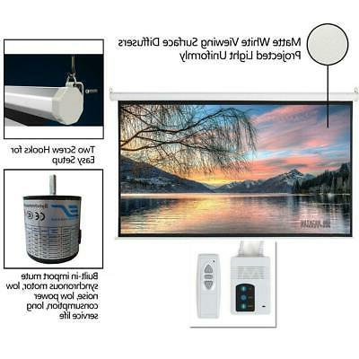 """92"""" 16:9 Electric Motorized Projector 4K White"""