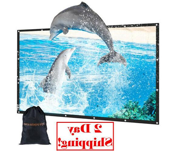 100in outdoor movie projector screen with bag