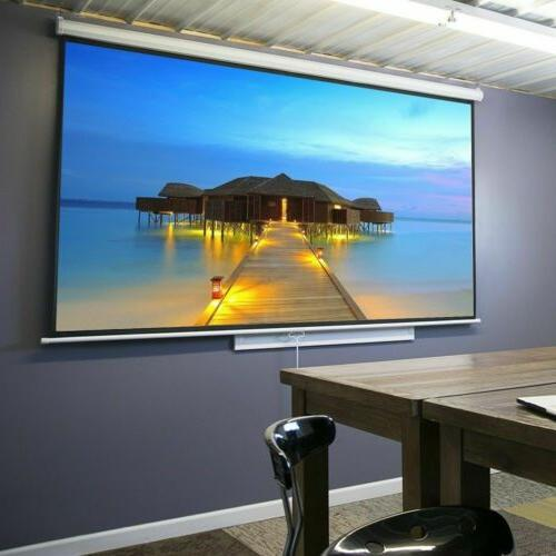 lightweight projector screen manual pull down theater