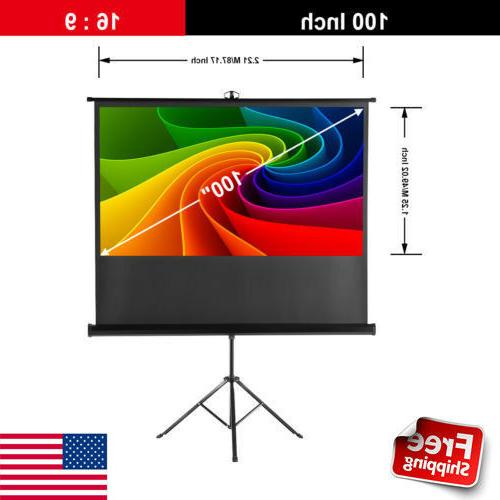 100inch 16 9 portable pull up projector