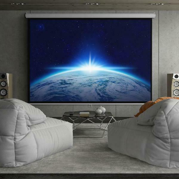 119 Inch HD Indoor Pull Manual Projector Screen for Theater