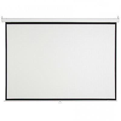 119in Pull Manual Screen White