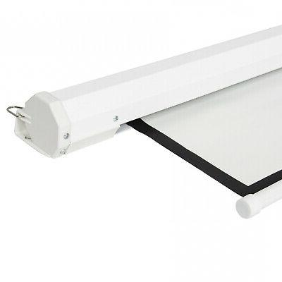 119in Manual Projector Screen - White