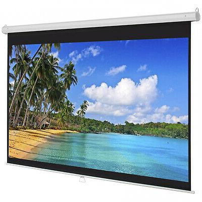 119in hd pull down manual projector screen