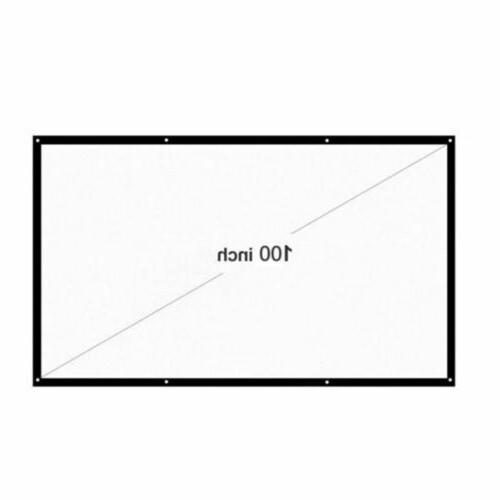 120-150'' Foldable Projector Screen 16:9 3D Theater