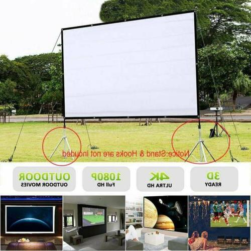 120 foldable portable projector screen 16 9
