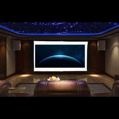 """120"""" 4K Movie Portable 16:9 Projector Screen Theater"""