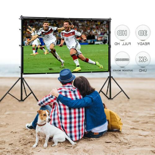 Excelvan60-150inch 16:9 Collapsible White Portable Projector