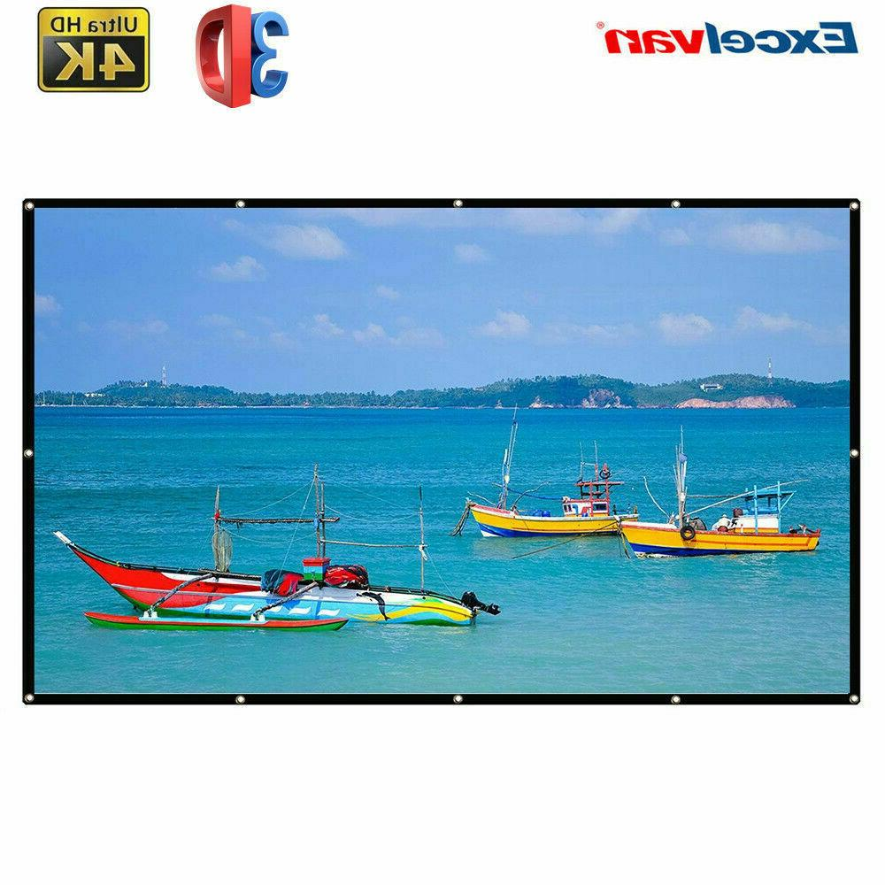 120'' Projector Screen Projection For Home&