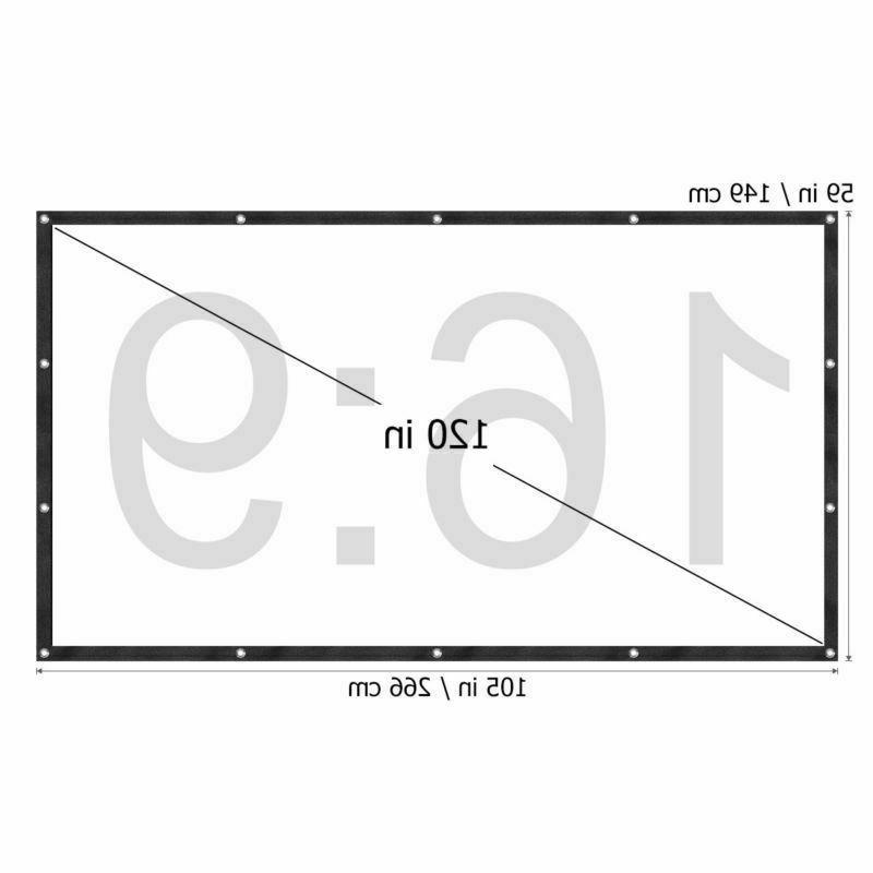 """120"""" Projection Screen Pull Home Theater Projecting"""