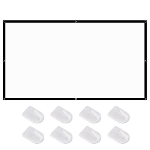 """120""""Anti-Crease Portable Projector Screen 16:9 HD Theater Outdoor Movie"""