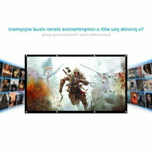 """60/72/84/100/120"""" Projection Screen HD 16:9/4:3 Home Theater"""