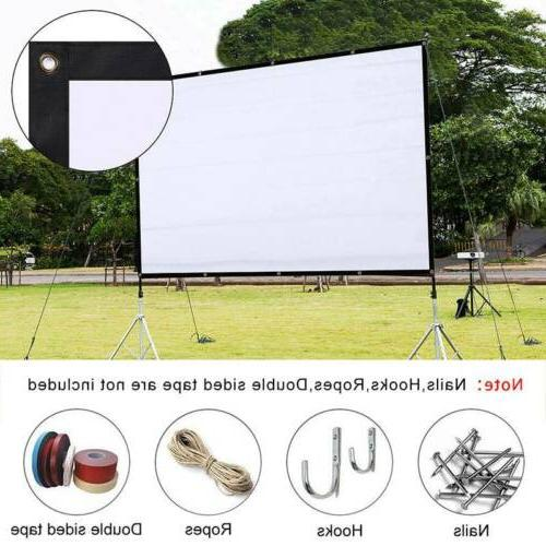 60 projector screen foldable home theater in