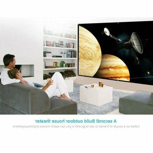 "60"" Projector Screen Foldable Home Projection"