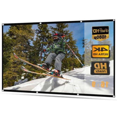 120 portable foldable projector screen 16 9