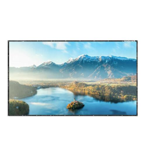 100inch Portable Hanging Projector Screen 16:9 HD Home Theat