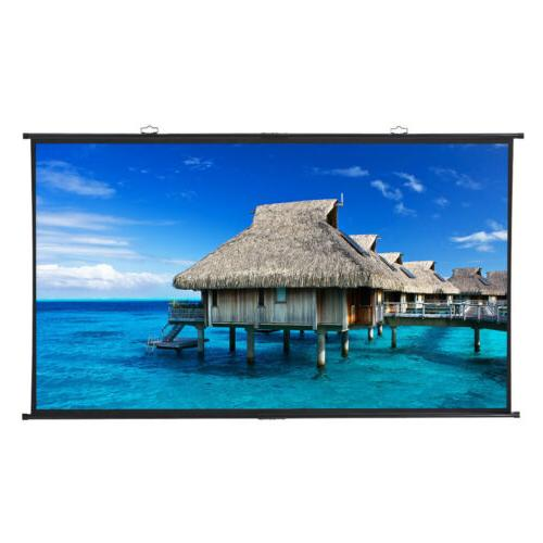 120inch Diagonal 16:9 Projector Screen Down Home