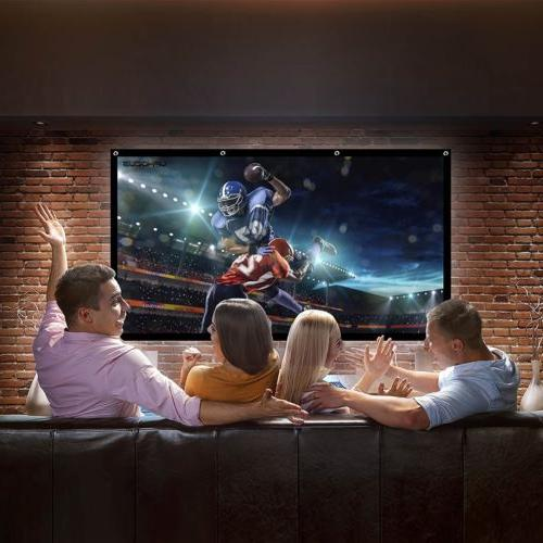 120inch Portable Foldable Screen Theater Outdoor Movie