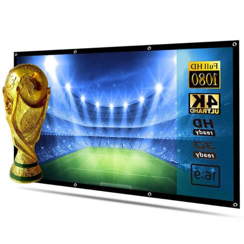 120inch portable foldable projector screen 16 9