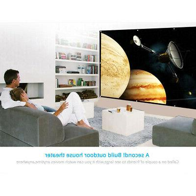 150''inch 16:9 Projector Screen Home Theater Movie