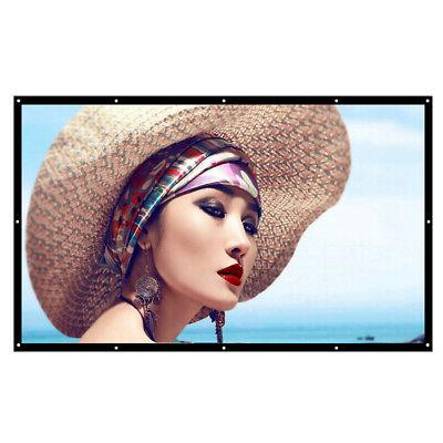 150''Portable Foldable Projector Screen 16:9 Outdoor Movies
