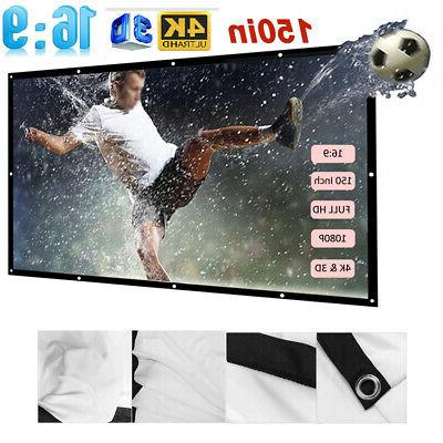 150 inch 16 9 foldable wall projector