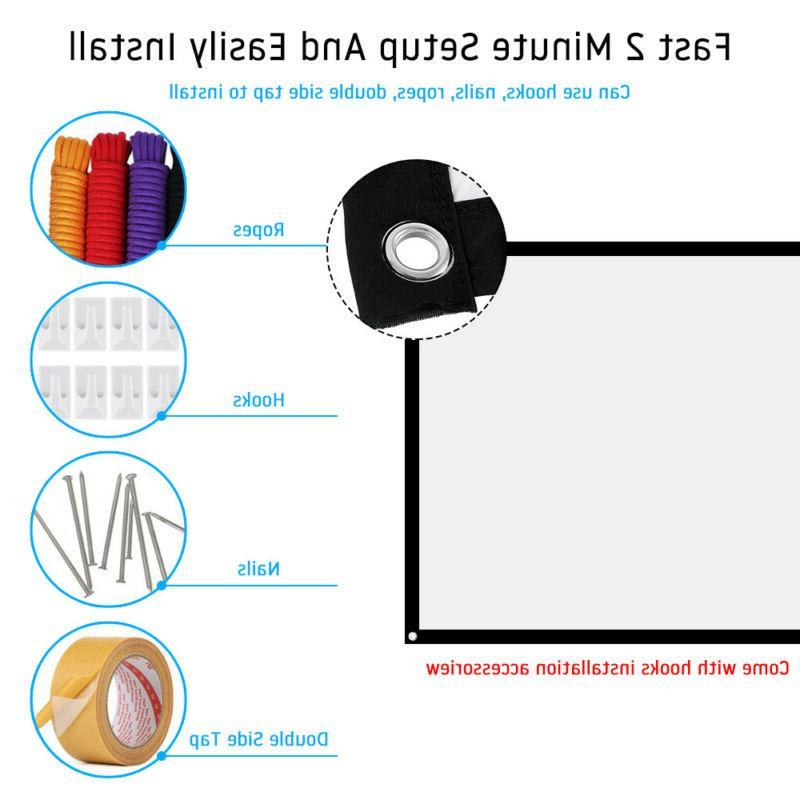 16:9 74-150in Projection Portable Screen