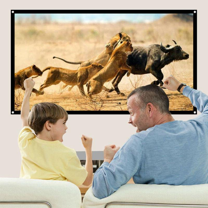 74-150in 16:9 Projector Screen Home Cinema Projection