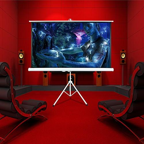Matte White Theater Projection Projector Screen for Home Theater Outdoor Using