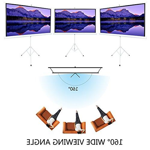 ShowMaven 80 inch Matte White Home Theater Projection Projector Screen for Home Theater Indoor Using