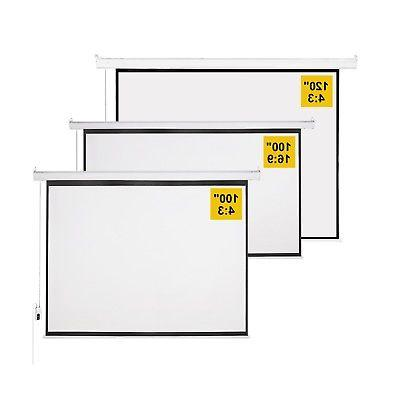 """100"""" Projector Screen Control Home Theater"""