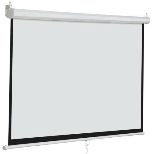 """Matte White 100"""" 16:9 Projection Projector Screen Home Movie"""