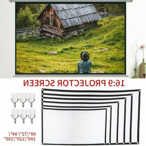 "60""/120""/150"" Portable Foldable Wall Projector Screen 16:9 H"