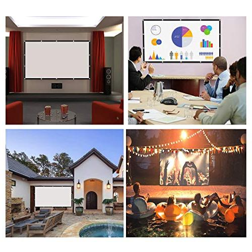 120 16:9 Projector P-JING Widescreen Foldable Outdoor for Theater Double