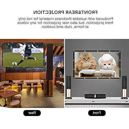 Projector Portable Widescreen Foldable Anti-Crease Outdoor Projector for Home Double Projection