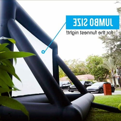 16Ft Movie Screen Inflatable Giant Outdoor Backyard W/