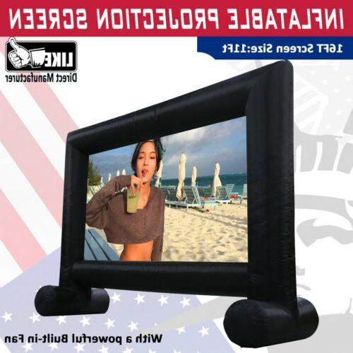 16ft movie screen inflatable giant outdoor projector