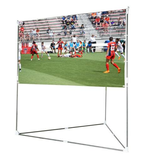 "VIVOHOME 2in1 100"" HD Projector Screen Stand & Hanging Indoo"