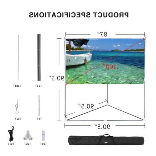 "VIVOHOME 100"" Projector Stand & Hanging Indoor"