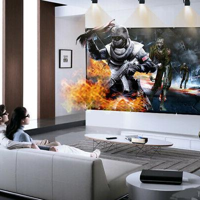 """120"""" 16:9 4K Projection Home Theater Movie"""